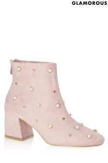 Glamorous Pearl Ankle Boots