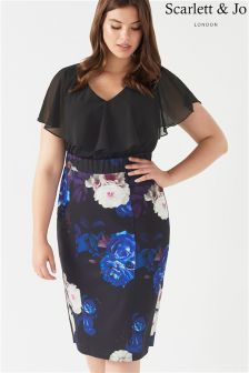 Scarlett & Jo Plus 2-in-1 Pencil Dress