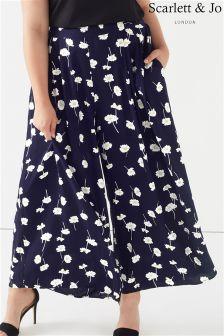 Scarlett & Jo Plus Daisy Print Trouser