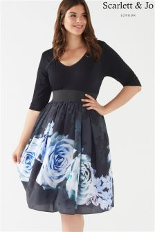 Scarlett & Jo Plus Bolero Top Twofer Dress