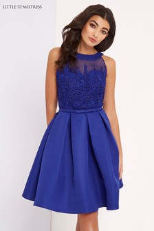 Little Mistress Appliqué Prom Dress