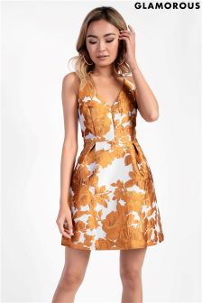 Glamorous Petite Brocade Floral Skater Dress