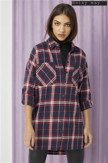 Noisy May Erik Long Sleeve Oversize Shirt
