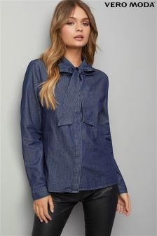 Vero Moda Denim Bow Shirt
