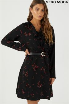 Vero Moda Printed Wrap Dress