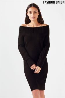 Fashion Union Midi Jumper Dress
