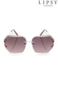 Lipsy Geometric Rimless Sunglasses