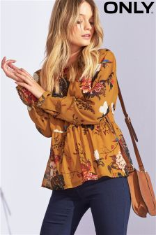 Only Frill Floral Print Blouse
