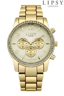 Lipsy Bracelet Diamanté Face Watch