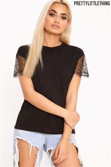 PrettyLittleThing Eyelash Oversized T-Shirt