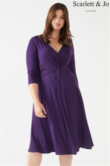 Scarlett & Jo Plus Jersey Knot Front Dress