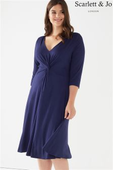 Scarlett & Jo Jersey Knot Front Dress