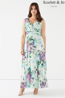 Scarlett & Jo Plus Floral Chiffon Maxi Dress