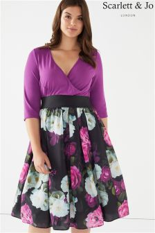 Scarlett & Jo Plus Floral Midi Dress