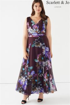 Scarlett & Jo Plus Floral Print Maxi Dress