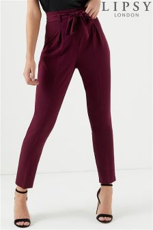 Lipsy Tailored Tie Front Trousers