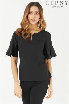 Lipsy Metal Bar Short Sleeve Top