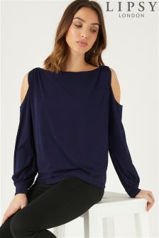 Lipsy Metal Ring Cold Shoulder Top