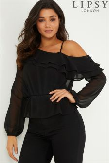 Lipsy One Shoulder Ruffle Blouse