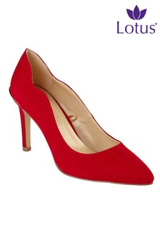 Lotus Heeled Court Shoes