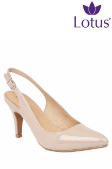 Lotus Slingback Stiletto Heels