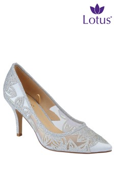 Lotus Glitter Court Heels