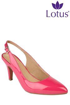 Lotus Slingback Heeled Court Sandals