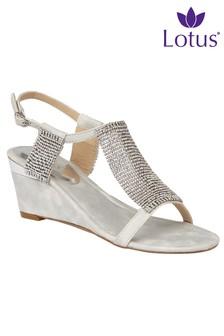 Lotus Wedge Sandals