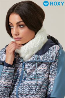 Roxy Cable Knit Fleece Snow Ski Lined Neck Warmer