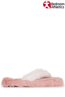 Bedroom Athletics Faux Fur Spa Slippers