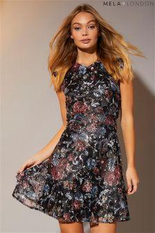 Mela London Printed Skater Dress