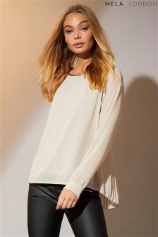 Mela London Pleat Detail Blouse