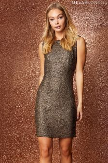 Mela London Metallic Bodycon Dress