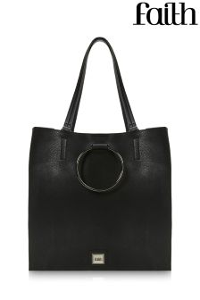 Faith Circle Colourblock Shopper Bag