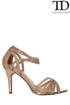 True Decadence Multi-strap Glitter Sandals
