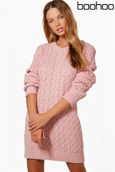 Boohoo Cable Knit Jumper Dress