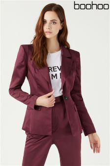Boohoo Satin Suit Jacket