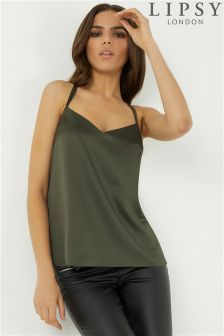 Lipsy O Ring Satin Cami Top