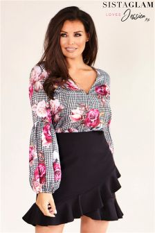 Jessica Wright Asymmetric Frill Mini Skirt