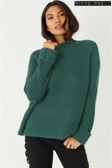 Noisy May Funnel Neck Knit Jumper