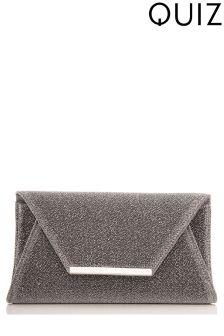 Quiz Glitter Clutch Bag