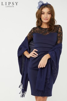 Lipsy Navy Plain Wrap