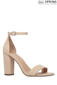 Call It Spring Block Heel Naked Sandal