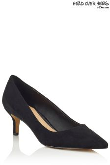 Head Over Heels Low Kitten Heel Pointed Courts