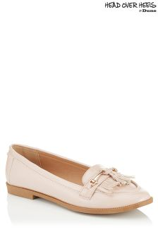 Head Over Heels Metal Trim Fringe Loafers