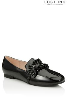 Lost Ink Ruffle Plait Loafer