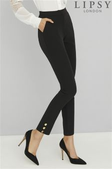 Lipsy Tailored Skinny Button Detail Trousers