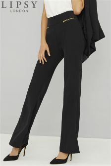 Lipsy Tailored Zip Slim Flare Trousers