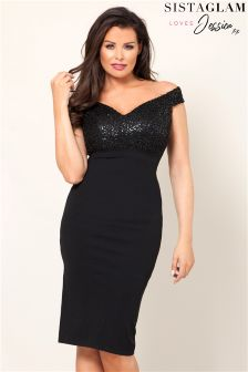 Sistaglam Loves Jessica Off The Shoulder Bodycon Dress