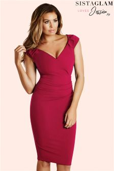 Jessica Wright Off The Shoulder Ruched Bodycon Dress